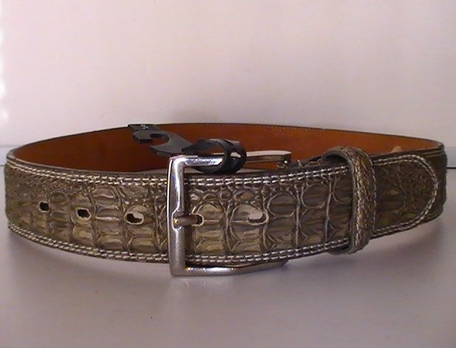 '.Belt Gray Crocodile Small.'