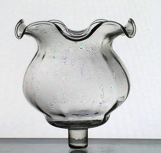 Home Interiors Peg Votive Holder  Victorian Style Clear Ruffled 11891