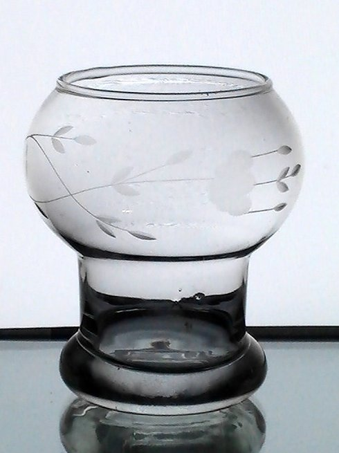 Hanging Candle Holder Princess House Bulbous Goblet Etched
