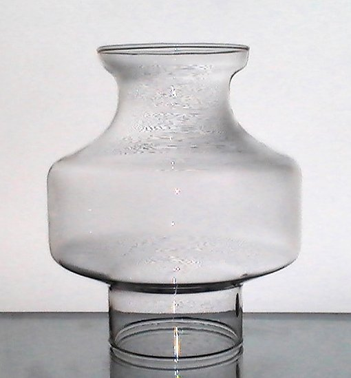 Hurricane Shade Bulbous 2 7/8 Fitter x 6 3/8 x 3 1/8 For 3 inch base