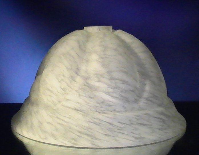 Glass Lamp Shade White Mottled 8.25 x 11.75 for 2 inch fitter crown