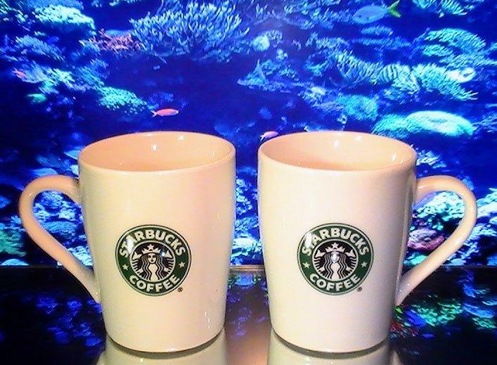 Starbucks Mermaid Collectible Coffee Cups Mugs 8 oz 2007 Lot of 2