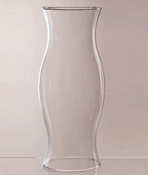 Image 0 of Hurricane Shade Sleeve 11.5 inches x 4.75 x 4.75 Glass Hand Blown