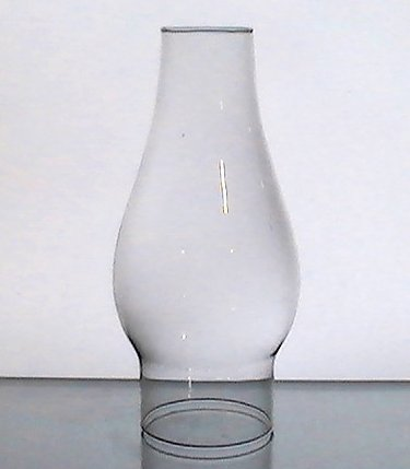 Hurricane Shade 2 7/8 inch Fitter x 8.5 x 2 Clear Bulbous 3.25 inches w