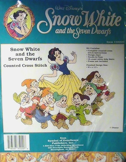 Snow White and the Seven Dwarfs Disney Counted Cross Stitch Kit 35020