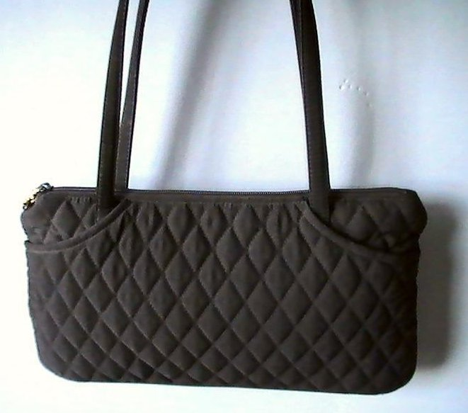 Vera Bradley Black Pockets Quilted Double Strap Shoulder Bag