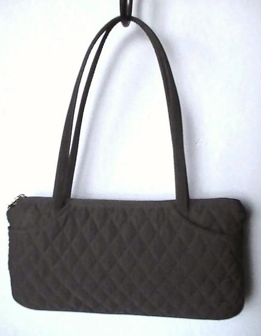 Image 1 of Vera Bradley Black Pockets Quilted Double Strap Shoulder Bag