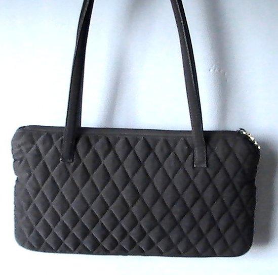 Image 2 of Vera Bradley Black Pockets Quilted Double Strap Shoulder Bag
