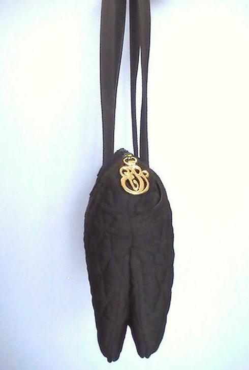 Image 3 of Vera Bradley Black Pockets Quilted Double Strap Shoulder Bag