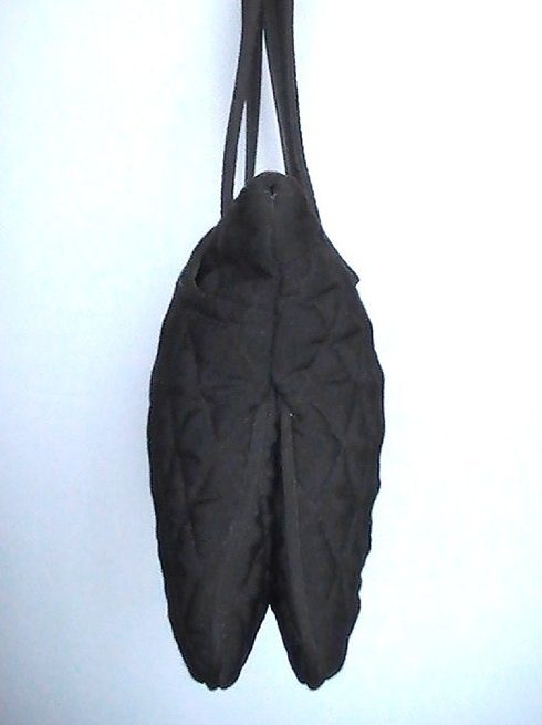 Image 4 of Vera Bradley Black Pockets Quilted Double Strap Shoulder Bag