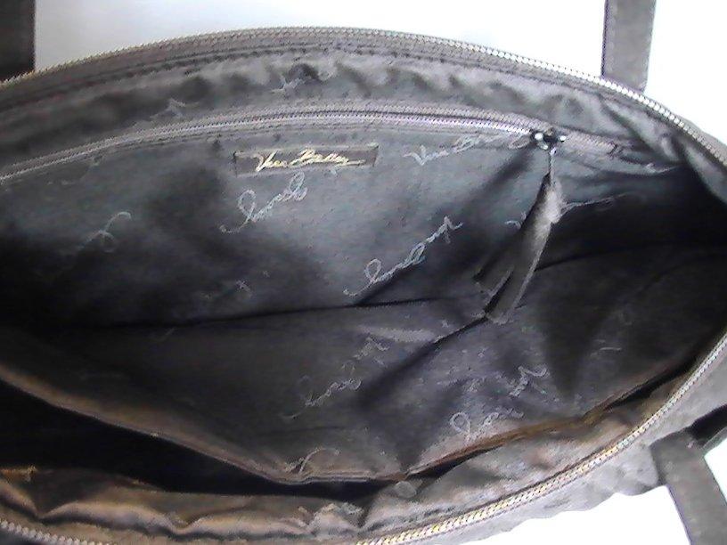 Image 5 of Vera Bradley Black Pockets Quilted Double Strap Shoulder Bag