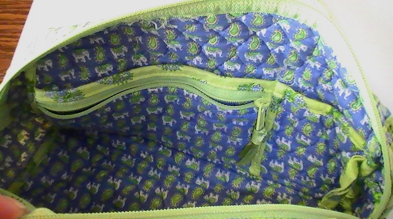 Image 3 of Vera Bradley Duffle Shoulder bag Citrus Green with matching Coin Purse Green