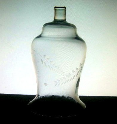 Home Interiors Peg Votive Etched Wheat Tall Flared 5.5 inches