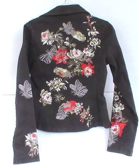'.Embroidered Blazer Brown Small.'