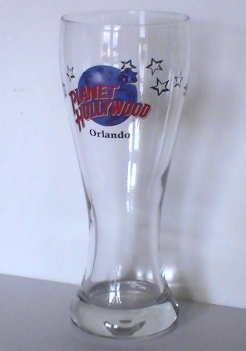 Image 0 of Planet Hollywood Collectible Pilsner Beer Glass Orlando 16 Oz