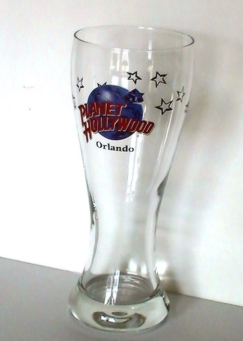 Image 1 of Planet Hollywood Collectible Pilsner Beer Glass Orlando 16 Oz