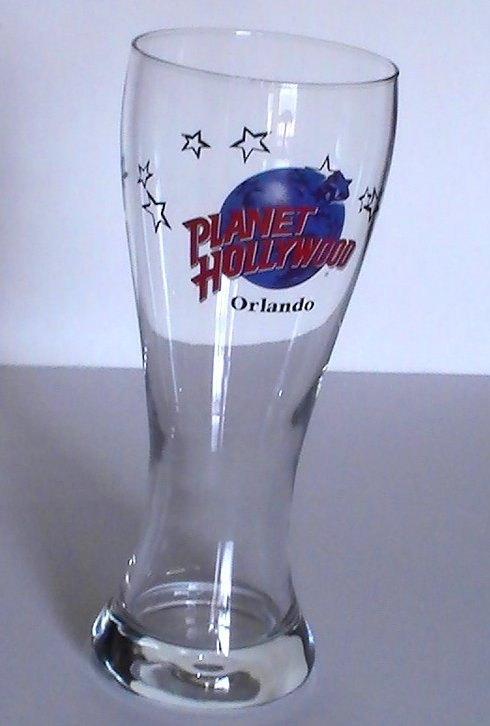 Image 3 of Planet Hollywood Collectible Pilsner Beer Glass Orlando 16 Oz