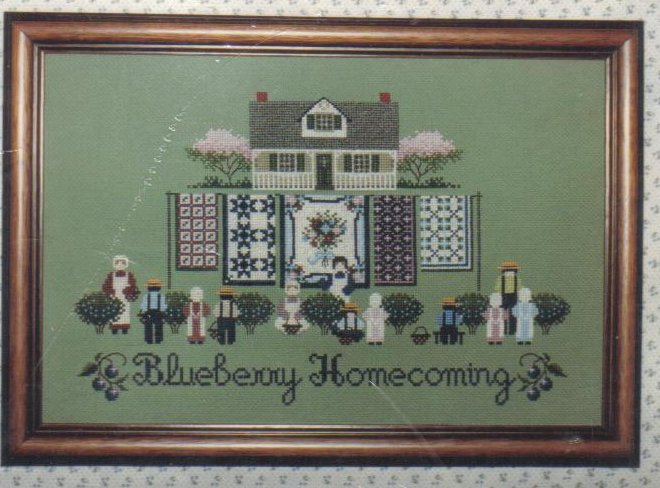 'Blueberry Homecoming' Needlepoint Pattern New Crafts