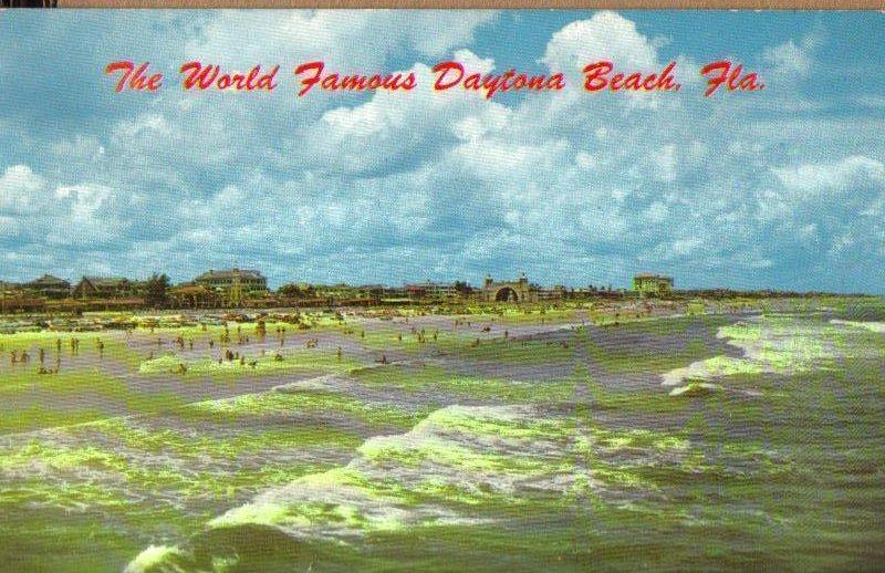 The World Famous Daytona Beach, Florida Vintage Postcard