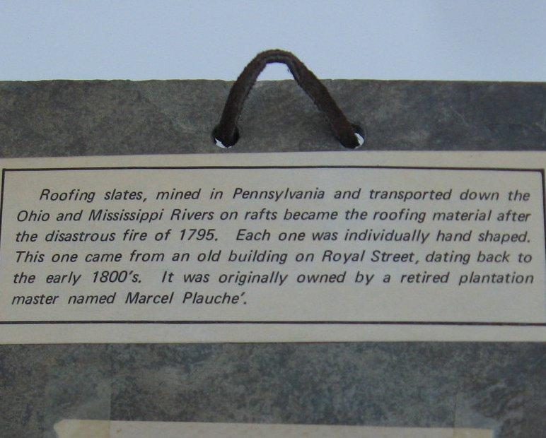 Image 2 of The Natchez Paddleboat on 200 year old Slate Roofing Tile