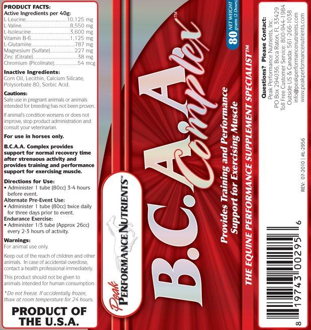 Image 2 of BCAA Complex 1.5# Peak Performance Nutrients equine supplement