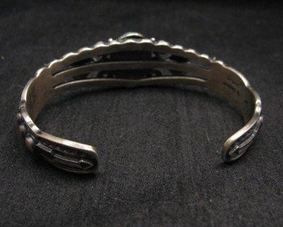 Image 4 of Darrell Cadman Navajo Turquoise Sterling Silver Bracelet
