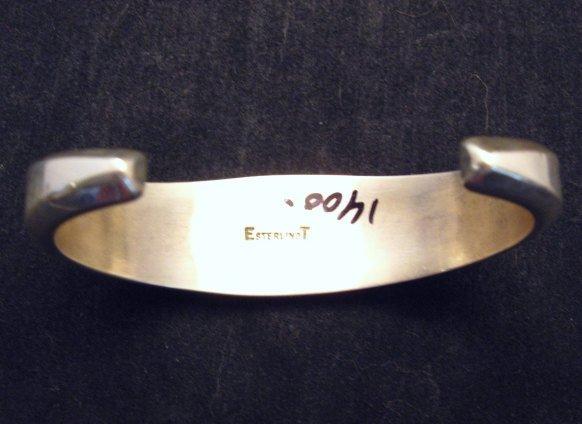 Image 4 of Erwin Tsosie Navajo Inlay Silver Bracelet
