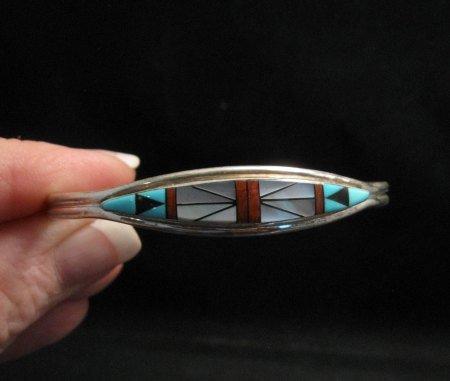 Image 3 of F. Cheama Zuni Inlay Bracelet Jewelry