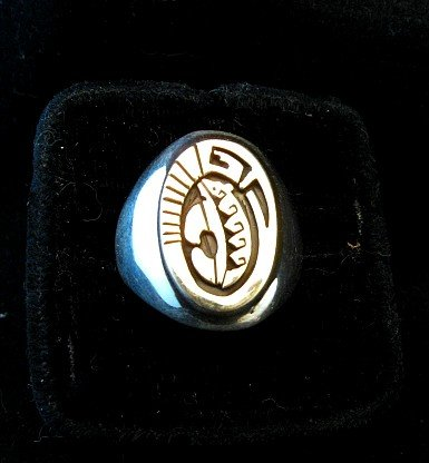 Image 0 of Navajo Calvin Peterson 14K Gold & Sterling Silver Ring sz11