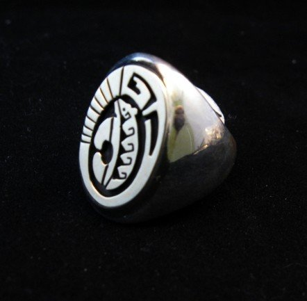 Image 1 of Navajo Calvin Peterson 14K Gold & Sterling Silver Ring sz11