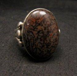 Navajo Orville Tsinnie Dinosaur Bone Silver Ring Sz12
