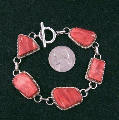 Image 0 of Navajo Red Spiny Oyster Link Bracelet, Selena Warner