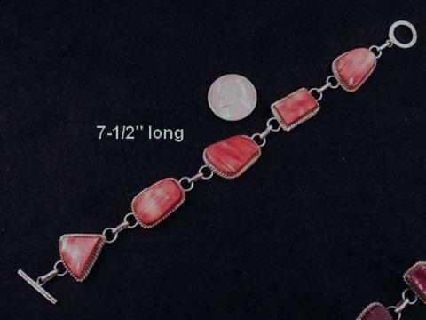 Image 1 of Navajo Red Spiny Oyster Link Bracelet, Selena Warner