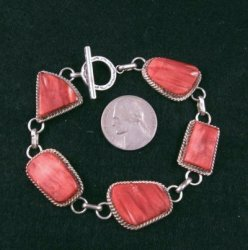 Navajo Red Spiny Oyster Sterling Silver Earrings, Selena Warner