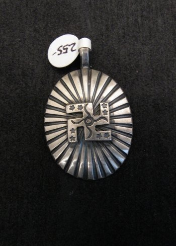 Image 0 of Navajo Whirling Logs Sterling Silver Pendant, Gary Reeves