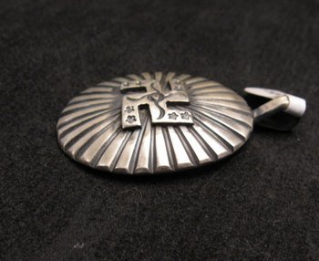 Image 1 of Navajo Whirling Logs Sterling Silver Pendant, Gary Reeves