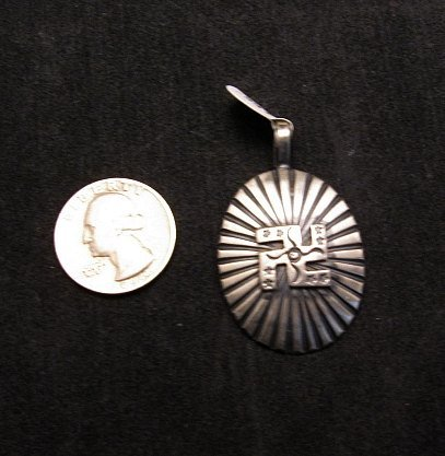 Image 3 of Navajo Whirling Logs Sterling Silver Pendant, Gary Reeves