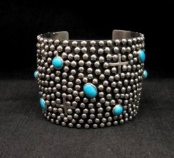 Native American Navajo ~ Ronnie Willie ~ Turquoise Silver Ring sz8