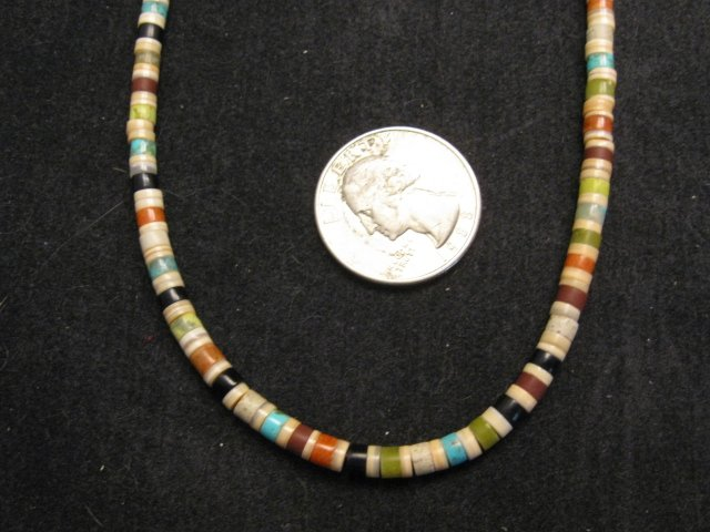 Image 1 of Rudy & Mary Coriz Santo Domingo Multistone Heishi Necklace 17