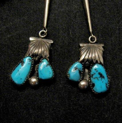 Image 2 of Robert & Bernice Leekya Zuni Sleeping Beauty Turquoise Bolo Native American