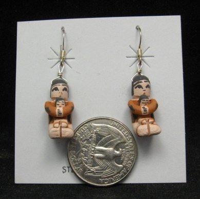 Image 1 of Angel Bailon ~ Jemez Indian Pueblo ~ Pottery Storyteller Earrings
