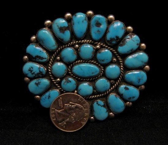 Image 1 of A++ Museum Quality Robert & Bernice Leekya Zuni Turquoise Pin