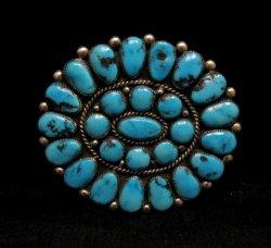 A++ Museum Quality Robert & Bernice Leekya Zuni Turquoise Pin