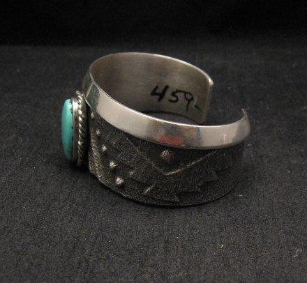 Image 4 of Anthony Bowman ~ Navajo ~ Tufa Cast Silver Turquoise Bracelet