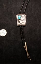 Vintage 1970's Sterling Silver Navajo / Hopi Bolo with Turqouise
