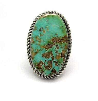 Image 0 of Albert Jake ~ Navajo ~ Native American Royston Turquoise Ring Sz6-1/2 to 8-1/2