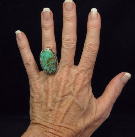Image 2 of Albert Jake ~ Navajo ~ Native American Royston Turquoise Ring Sz6-1/2 to 8-1/2