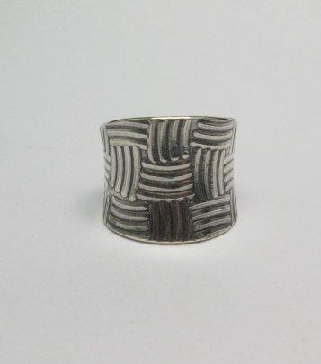 Image 0 of Fancy Navajo Sterling Silver Ring sz9, Bryan Joe