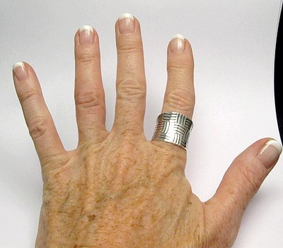 Image 3 of Fancy Navajo Sterling Silver Ring sz9, Bryan Joe