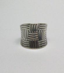 Fancy Navajo Sterling Silver Ring sz9, Bryan Joe